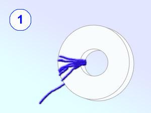 Как сделать пушистый шарик из ниток фото 869