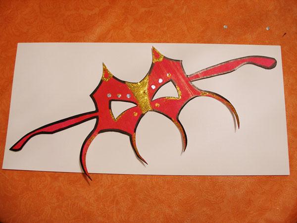 Маска дракон своими руками
