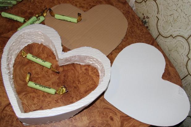 Каркас для торта из конфет из картона своими руками 91