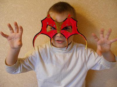 Как сделать маску ребёнку