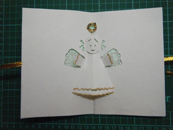 Объемные открытки с ангелами своими руками